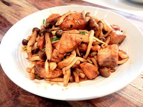 S1Ep31-Stir Fry Salmon And Double Mushrooms With Hoisin Sauce 海鮮醬雙菇炒三文魚