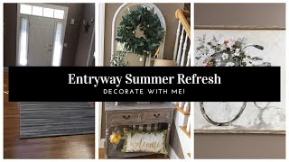 DECORATE WITH ME ENTRYWAY REFRESH MODERN FARMHOUSE