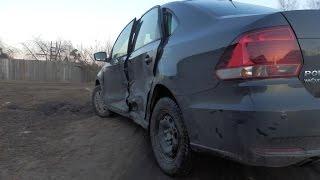 Volkswagen Polo кузовной ремонт Часть 1(Volkswagen Polo снятие подушки безопасности, Начало ремонта до покраски., 2016-04-26T06:46:53.000Z)