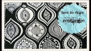 How to Draw a zen-tangle doodle