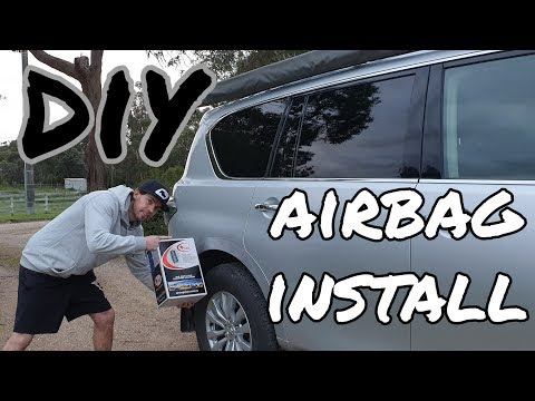 4X4BROTHERS AIRBAG MAN DIY INSTALL INTO A NISSAN Y62 PATROL AIR TANK AND COMPRESSOR