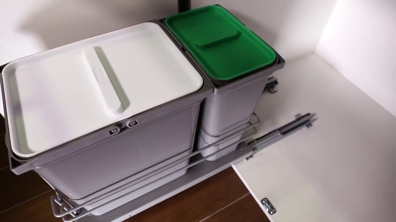 rev a shelf 5sbwc double trash bin pull out for under sink overview