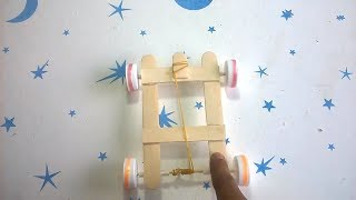 How To Make Rubber Band Powered Car - new