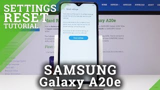 How to Reset Settings in SAMSUNG Galaxy A20e - Restore Default Settings