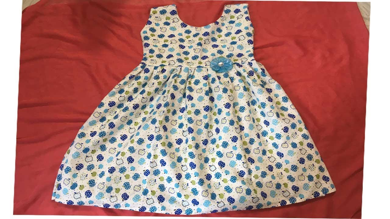 ae195d26 KIDS SUMMER COTTON FROCK CUTTING AND STITCHING AT HOME STEP BY STEP ...