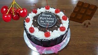 Download Video Kue ulang tahun sederhana coklat pagar 🎂 Happy Birthday Cake Simple black forest MP3 3GP MP4