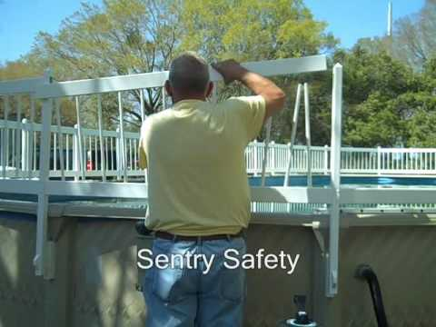 Premium Guard Above Ground Pool Fence Installing Upper