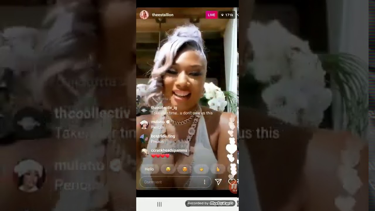 Megan Thee Stallion describes her shooting in tearful video