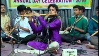 Raag bhoop flute - Prakash hegde -Sushira sangeeta shala 201...