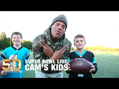 Behind The Scenes With Cam's Kids | Super Bowl Live | NFL
