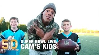 Behind The Scenes With Cam s Kids | Super Bowl Live | NFL