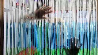 How To Make A Beaded Door Curtain Out Of Drinking Straws - DIY Recycling Door Curtain Tutorial