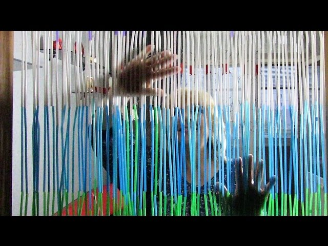 How To Make A Beaded Door Curtain Out Of Drinking Straws Diy Recycling Door Curtain Tutorial Youtube