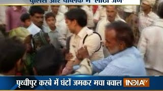 Watch Mob and Police Clash at Tikamgarh District in Madhya Pradesh - India TV