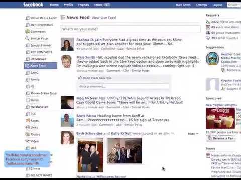 Facebook News Feed & Live Feed - Mari Smith Explains