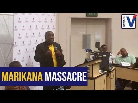 Ramaphosa apologises for role in Marikana massacre