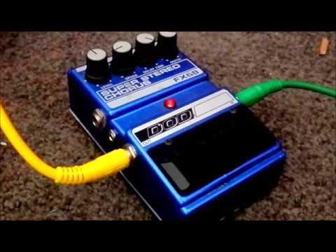 DOD  Super Stereo Chorus pedal FX68 demo