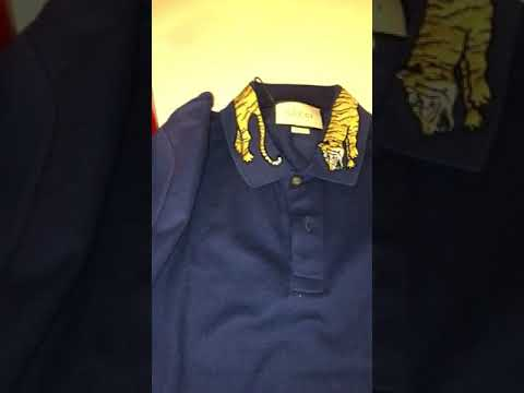 7f745fecc11 Gucci polo with tiger on collar - YouTube