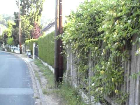Morning walk in Small village, France