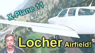 Download lagu Trying X Plane 11 Again Testing Flying Skills at Locher Airfield MP3