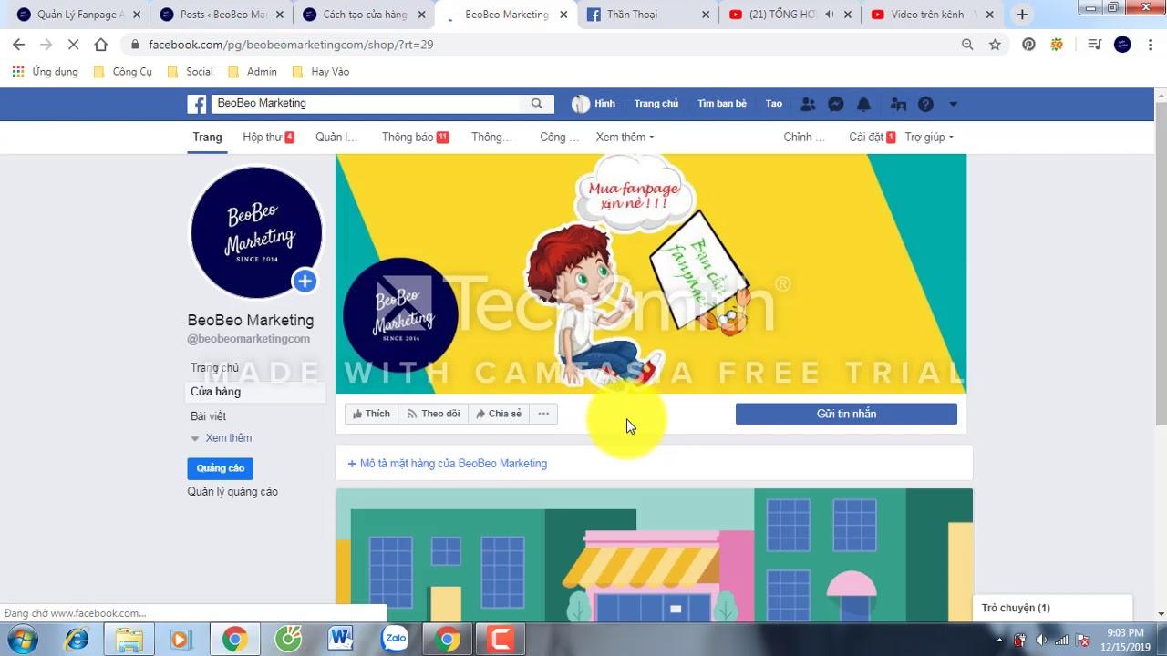 5 bước tạo cửa hàng (shop) trên fanpage Facebook 2020