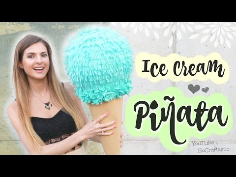 How to Make a Pinata with Paper Mache | SoCraftastic