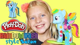 Play-Doh Rainbow Dash My Little Pony Style Salon GROWING HAIR!!