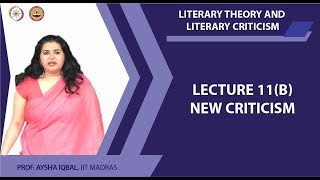 Lecture 11 B - New criticism