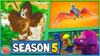 NIEMAND HEEFT DIT DOOR?!? DINO'S IN SEASON 5!?! - Fortnite: Battle Royale