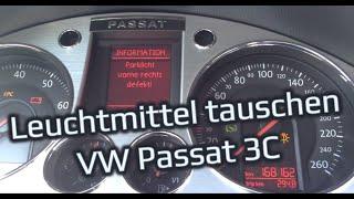 Leuchtmitteltausch Standlicht // Abbiegelicht Passat 3C B6