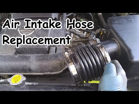 Nissan Xterra Air Intake Hoses Replacememt - YouTube