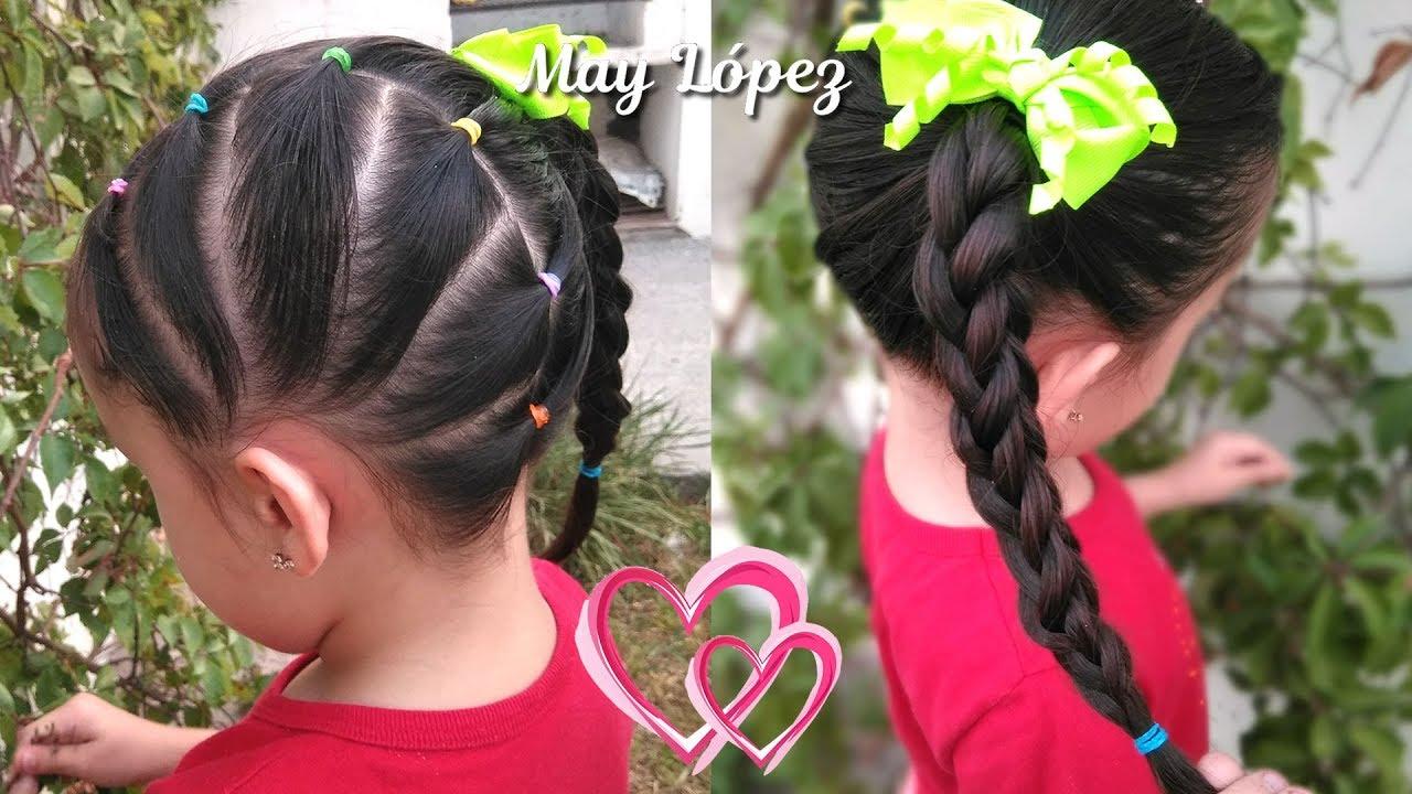 Peinado Para Ninas Facil Con Ligas Y Trenza En 3d Peinados Faciles