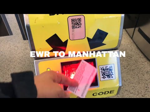 🔴 How To Get From EWR Newark New Jersey Airport To Manhattan For $13 On Train 🔴