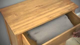 Oxbury Pine Chest 4 Drawer - Pinesolutions