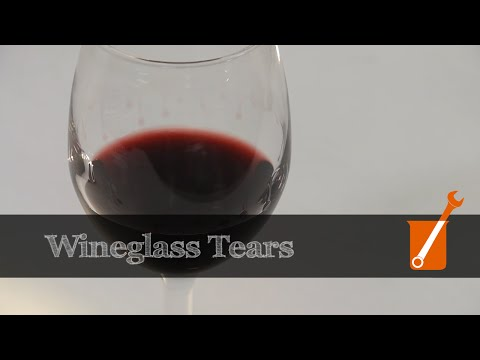 wine article The science of wineglass tears or wine legs