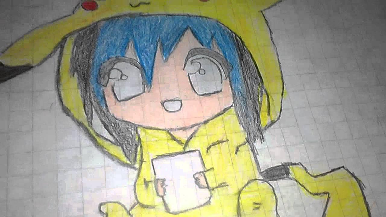 Chica kawaii pikachu