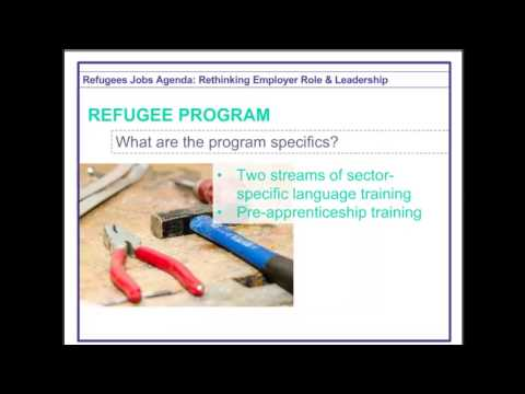 Refugees Jobs Agenda: Rethinking Employer Role & Leadership