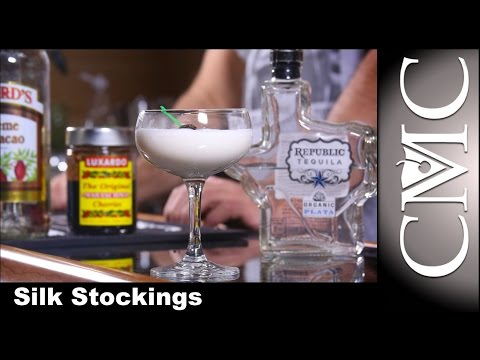 Silk Stockings Cocktail, with Tequila!