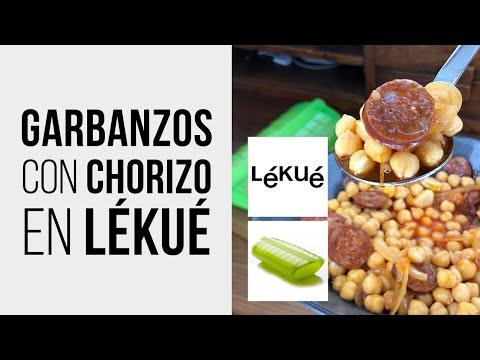 Garbanzos con Chorizo en estuche de vapor LÉKUÉ [en Microondas]