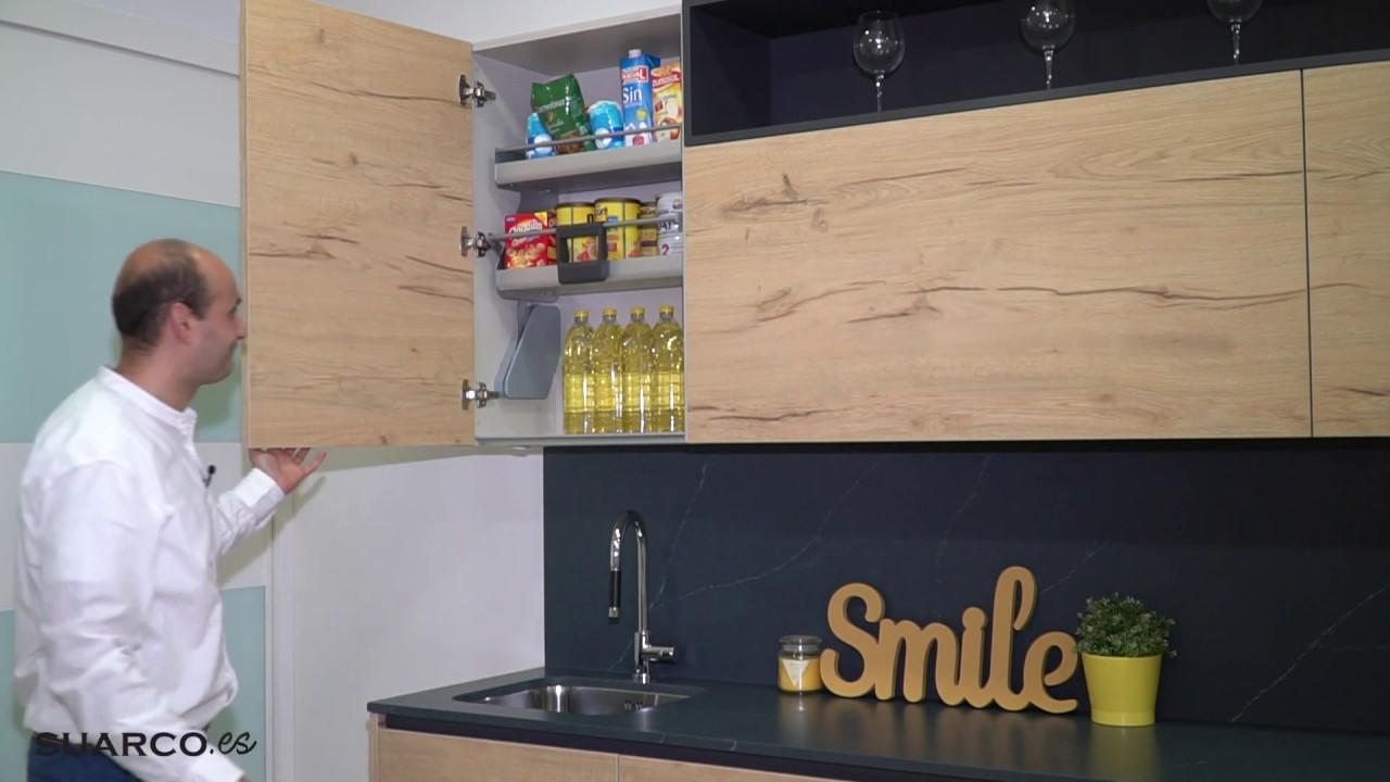 Cocinas Modernas: solucion para los muebles altos de cocinas suarco