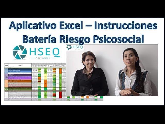 Batería de Riesgo Psicosocial Excel Gratis - HSEQ Nueva Visión