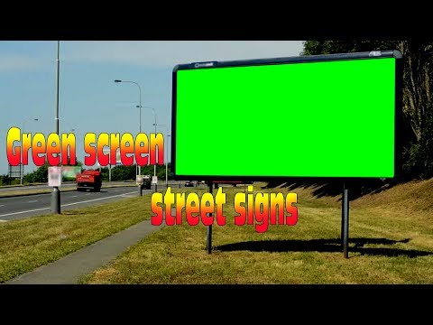 Green screen street signs