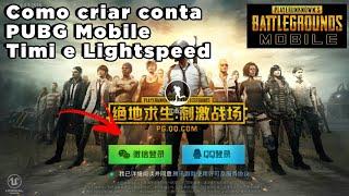 PUBG mobile - Como criar conta (Fazer login) - PUBG da Timi e Lightspeed - Tutorial + Download