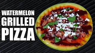 WATERMELON GRILLED PIZZA RECIPE  How To Make Savory Fruit Pizzas On Grilled Watermelon Slices