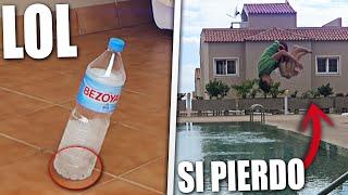 RETO DE LA BOTELLA EXTREMO SI PIERDO ME TIRO A LA PISCINA EN ROPA (Bottle Flip Challenge)