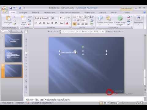 Powerpoint Präsentation Tutorial Deutsch Textfelder einfügen