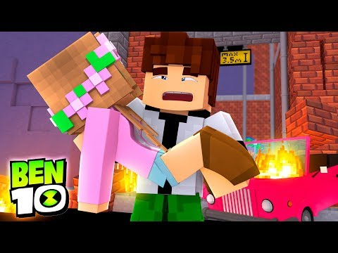 BEN 10 SAVES LITTLE KELLYS LIFE !!! Minecraft BEN 10 ADVENTURES w/ Tiby Turtle and Sharky