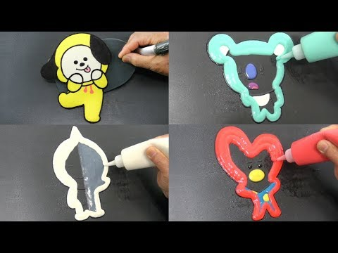 BT21 Pancake Art - Chimmy, Tata, Koya, Van