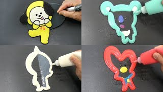 BT21 Pancake Art - Chimmy, Tata, Koya, Van