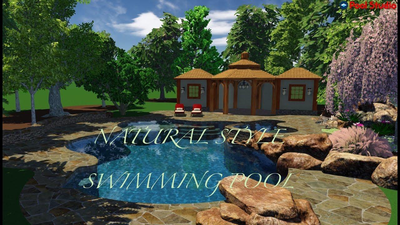 Natural Swimming Pool Design 3d Youtube